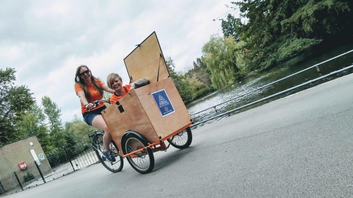 Four women, two cargo bikes…